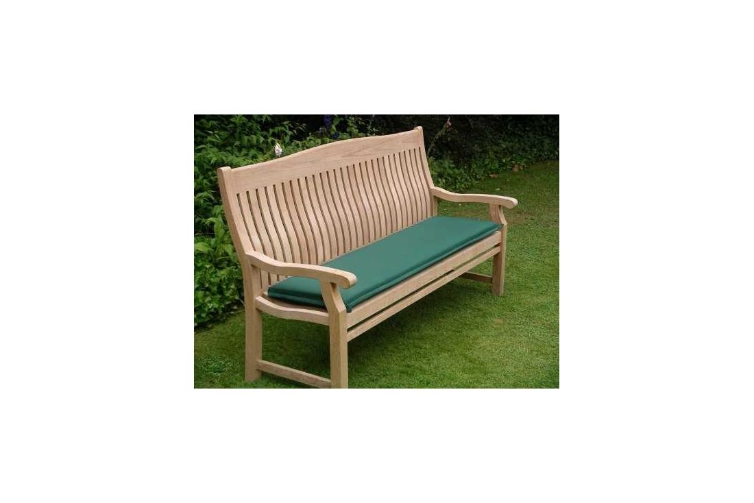 Outdoor cushion for 120cm bench forest green Garden