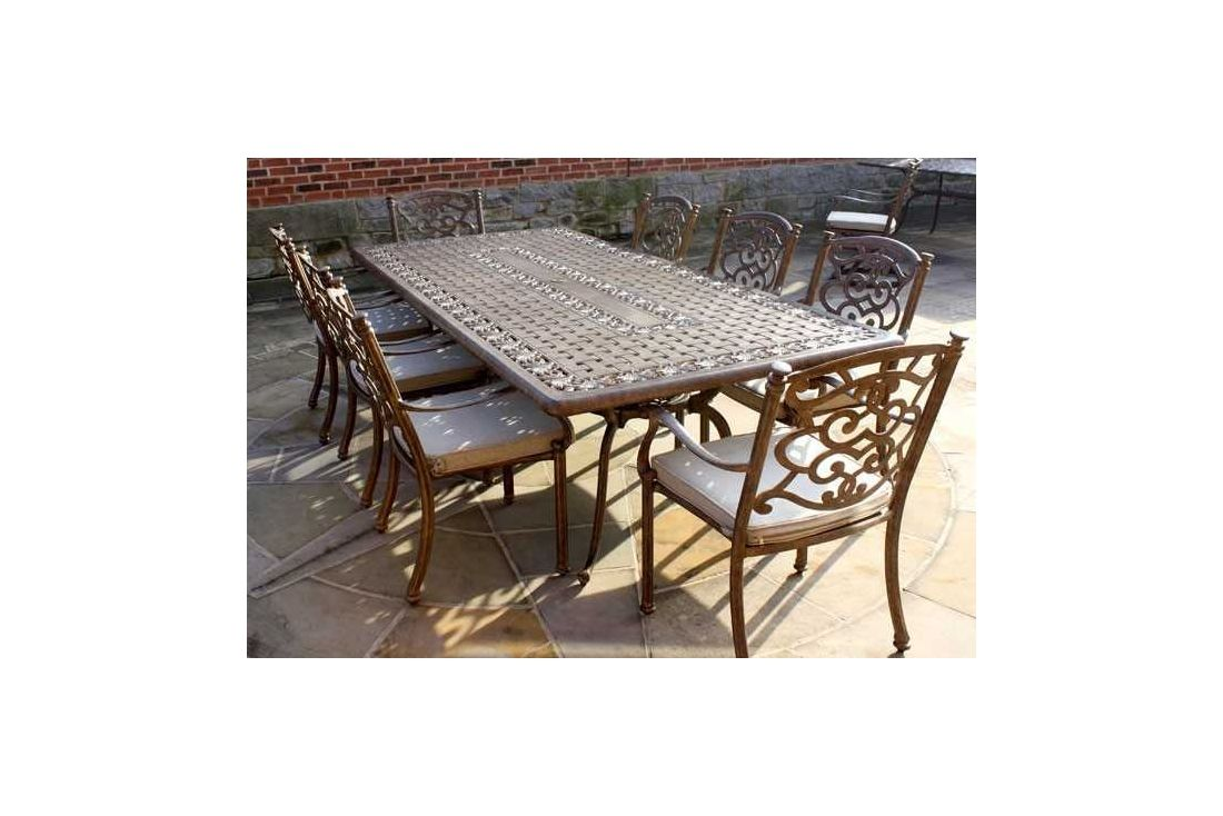 Casino 8 Seater Large Rectangle Table And Chairs Set Garden Furniture Portugal