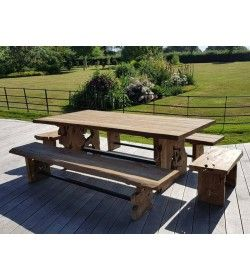 Nature Teak Bench Set 2.4m
