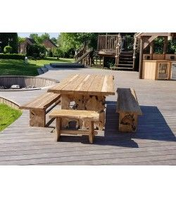 Nature Teak Bench Set 3m