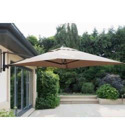 Square Wall Mounted Parasol - Grey