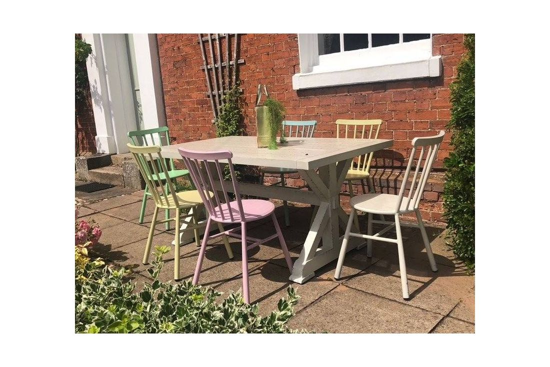Retro 6 Chair Dining Set