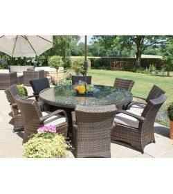 Texas 8 Seater Round Dining Set