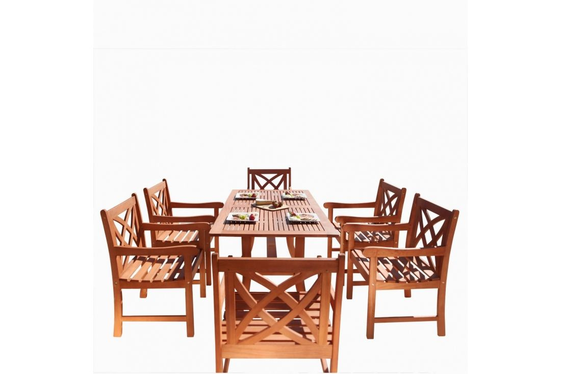 Malibu 7-piece Wood Dining Set