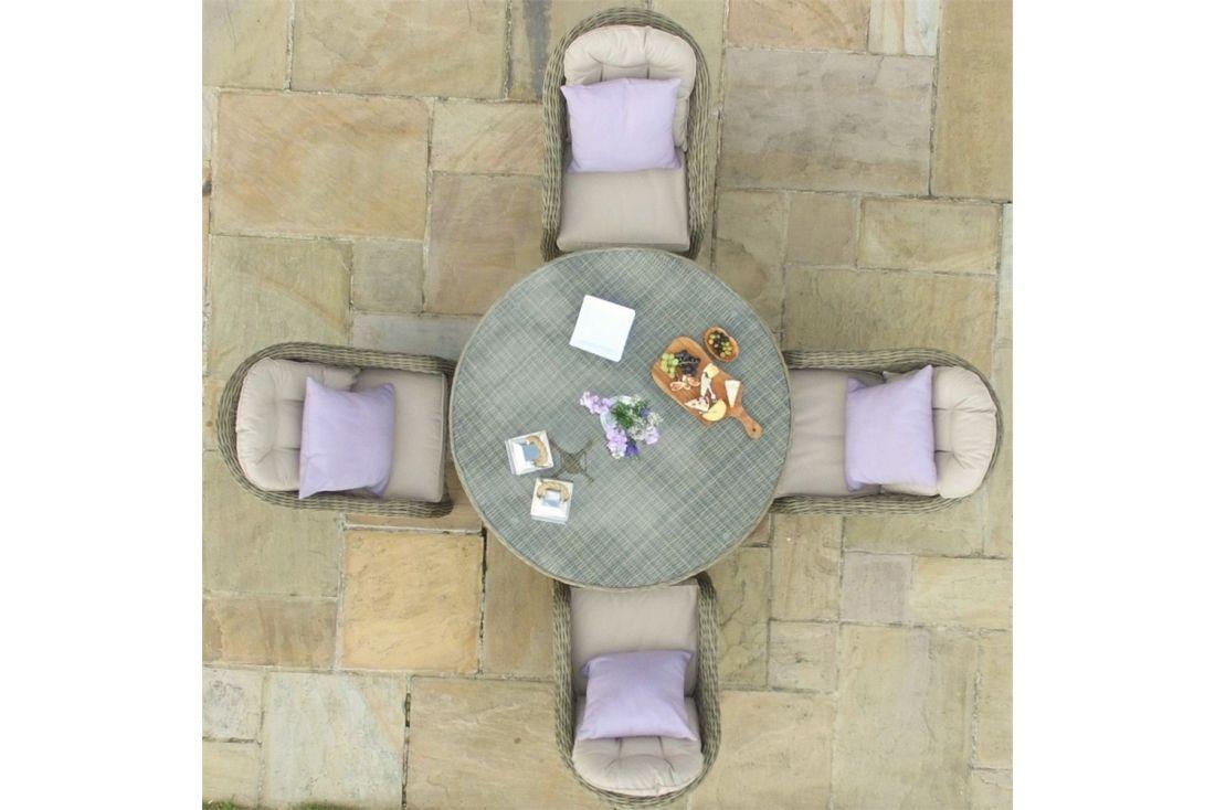 Winchester 4 Seater Round Armchair Set