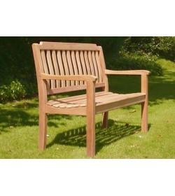 Sandhurst teak bench - 120cm