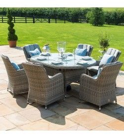 Oxford 6 Seat Ice Bucket Oval Dining set with Venice Chairs