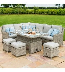 OXFORD CORNER SOFA DINING SET WITH ICE BUCKET