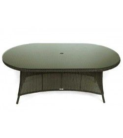 Feri 180cm oval wicker table