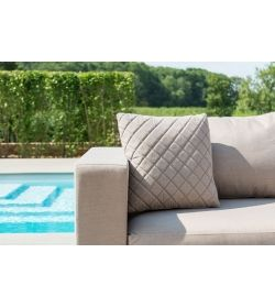 Scatter Cushions x 2 Quilted - Taupe