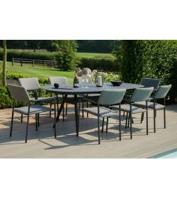 Bliss 8 Seat Oval Dining Set