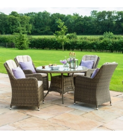 Winchester Venice 4 Seat Round Dining Set