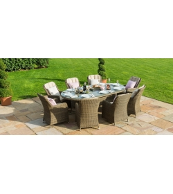 Winchester Venice 8 Seat Oval Dining Set