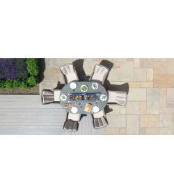 Winchester Venice Oval 6 Seat Fire pit