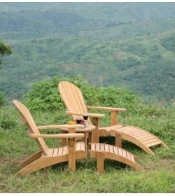 Double Adirondack Chair Set