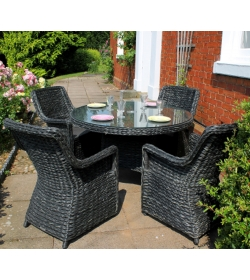 Midnight Montana 4 Chair Dining Set
