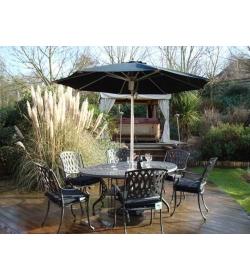 Tudor set 4 - parasol & cushions