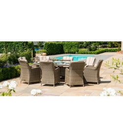 winchester 8 Seater Oval Venice Fire Pit Dining