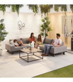 Tranquility Fabric Corner Sofa Set