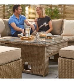 Ciara RH Corner Dining Sofa Set with Rising Table