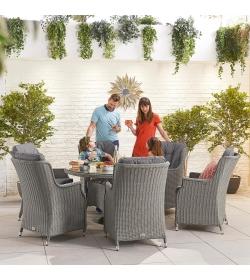Thalia 6 Seat Round Dining Set