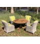 Fiji 4 Chair Teak Dining Set