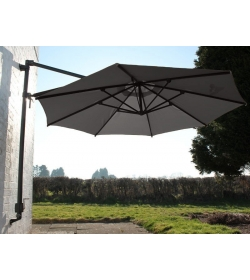 Turino Wall Parasol Grey Canopy Only