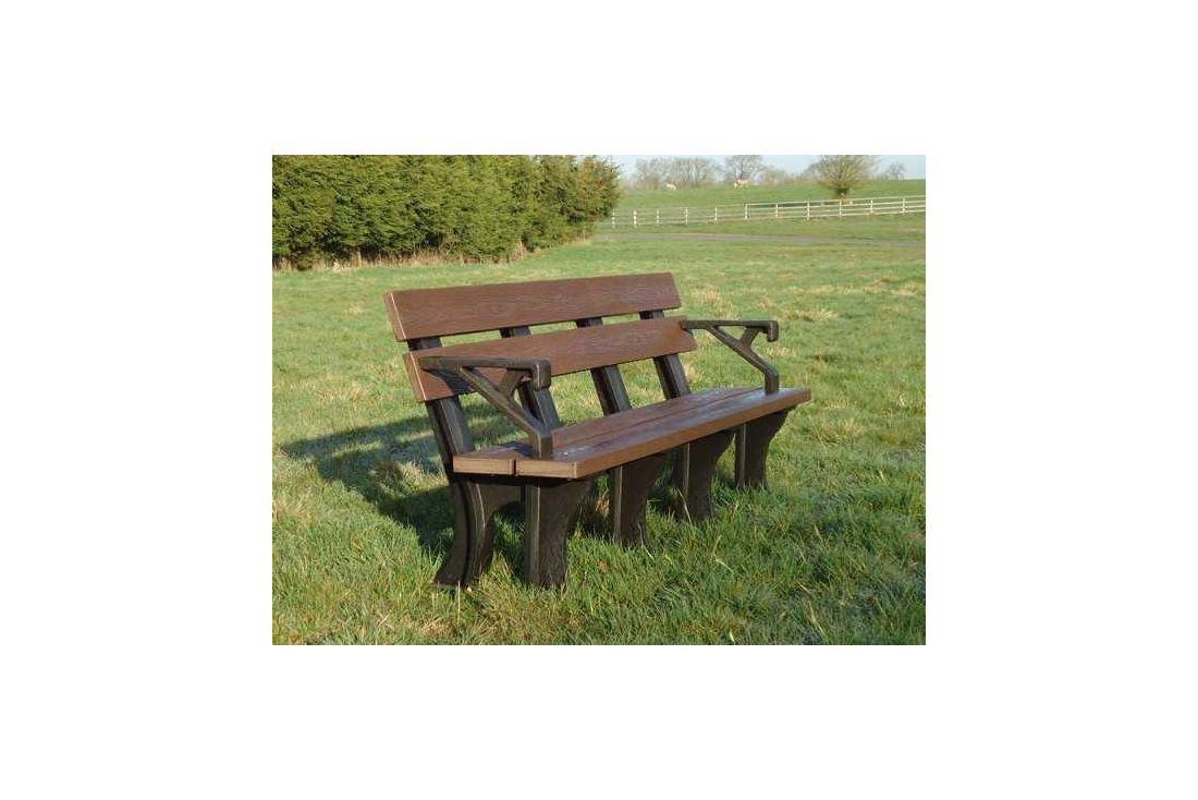 Eco park bench arms 1.8m