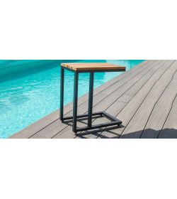 Oslo Teak U Shaped Side Table