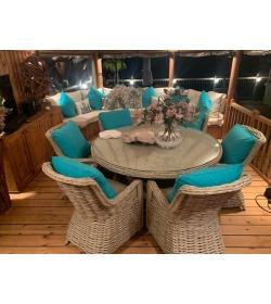 Fiji 6 Chair Dining Set