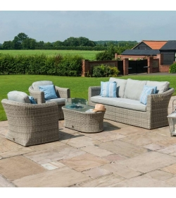 Oxford 3 Seat Set - With Firepit Coffee Table