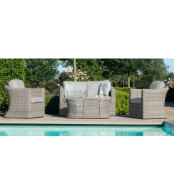 Oxford 2 Seat Set - With Firepit Coffee Table