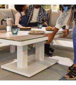Vogue Corner Sofa Set with Rising Table