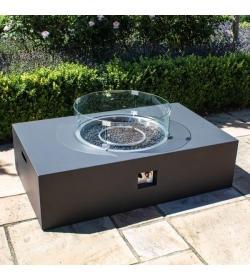 Gas Fire Pit Coffee Table Rectangular