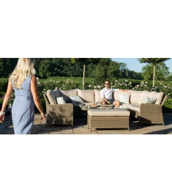 Winchester Royal U Shaped Sofa Set - With Rising Table