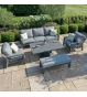 New York 3 Seat Sofa Set - With Rising Table
