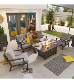 Vogue 3 Seater Sofa Set with Firepit Table