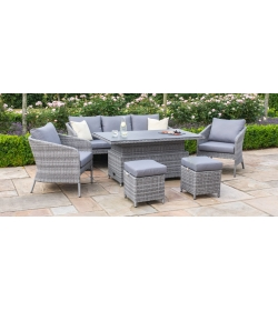 Santorini Sofa Dining Set - With Rising Table