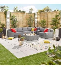 Luxor 2F Rattan Corner Sofa Set