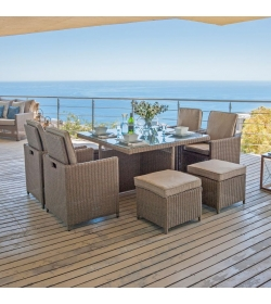 Heritage 4 Seat Deluxe Cube Set with 4 Stools