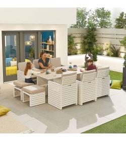 Adria Aluminium 6 Seat Cube Set