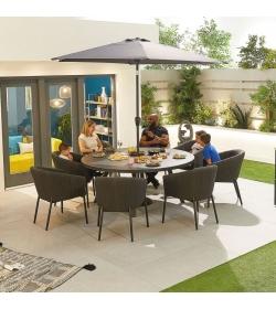 Edge Outdoor Fabric 8 Seat Round Dining Set