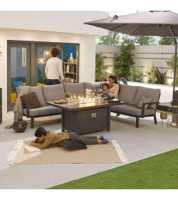 Vogue Corner Sofa Set with Firepit Table