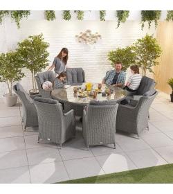 Thalia 8 Seat Dining Set - 1.8m Round Table
