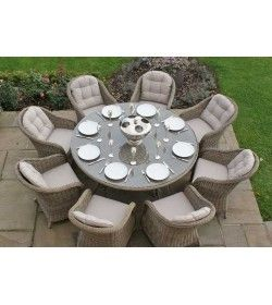 Winchester 8 Seater Round Armchair Set