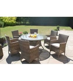 Winchester 6 Seater Round Dining Chair Set