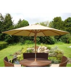 Diamond Teak parasol - 3m diameter