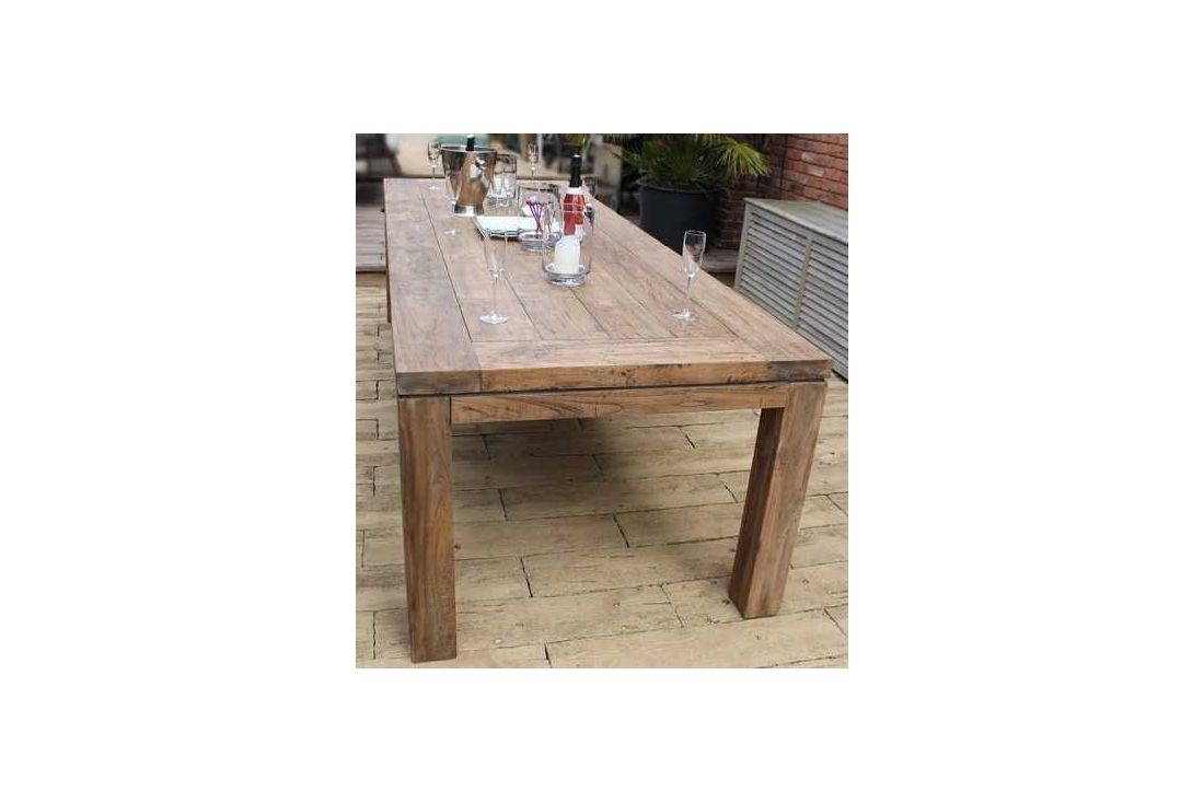 Beautiful York 2.8m Reclaimed Teak Table