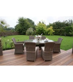 Winchester Oval Table with 2 Cava and 4 Armless Chairs
