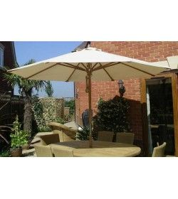 Diamond Teak Parasol 2.5m Diameter